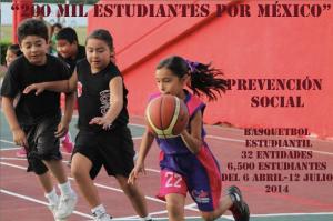 200 mil estudiantes por México, apoyo al basquetbol