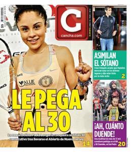 Portada de la sección deportiva del periódico Reforma, Cancha