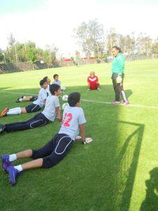 FOTO: Tere Campos (archivo personal) entrenadora de porteros CECAP
