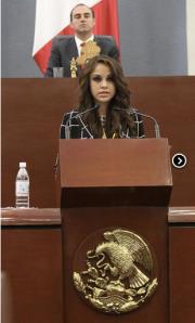 """Paola Longoria recibe la medalla """"Plan de San Luis"""""""